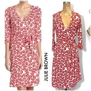 Lipstick Print Wrap Dress by Julie Brown, Neiman's